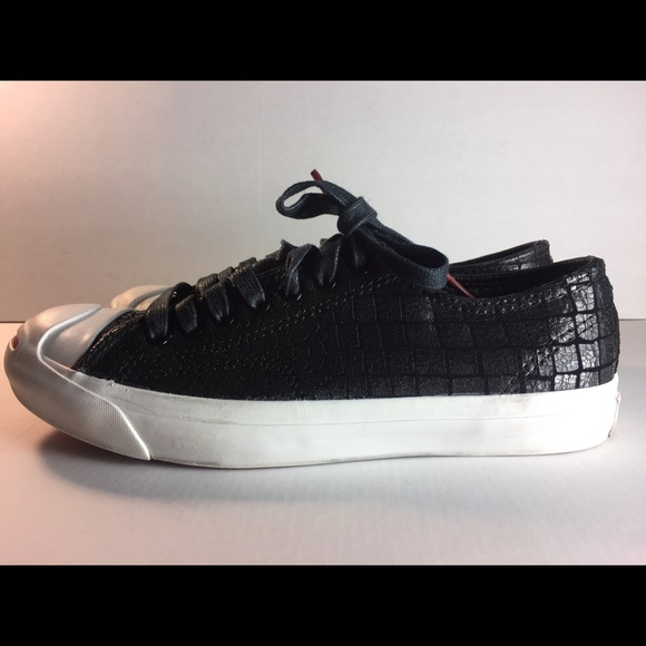 75ae1884b42a Converse Other - Converse Jack Purcell Black Cracked Sneaker